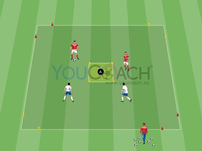 2 contra 2 con objetivos guiados- Arsenal FC