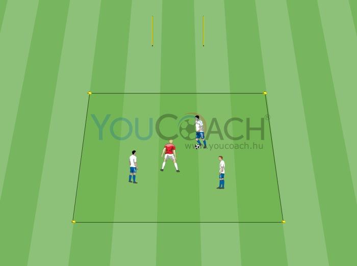 3 az 1 elleni játék a labdabirtoklás...
