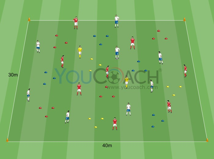 Ball possession 8 versus 8 with oriented control