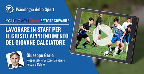 Giuseppe Geria webinar formazione calcio YouCoachClass