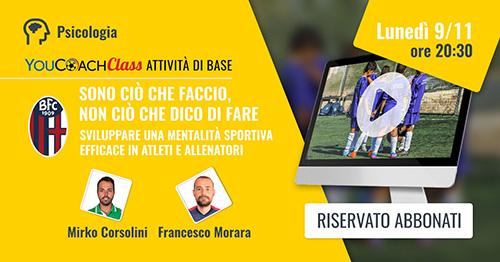 YouCoachClass webinar Bologna FC Attività di Base