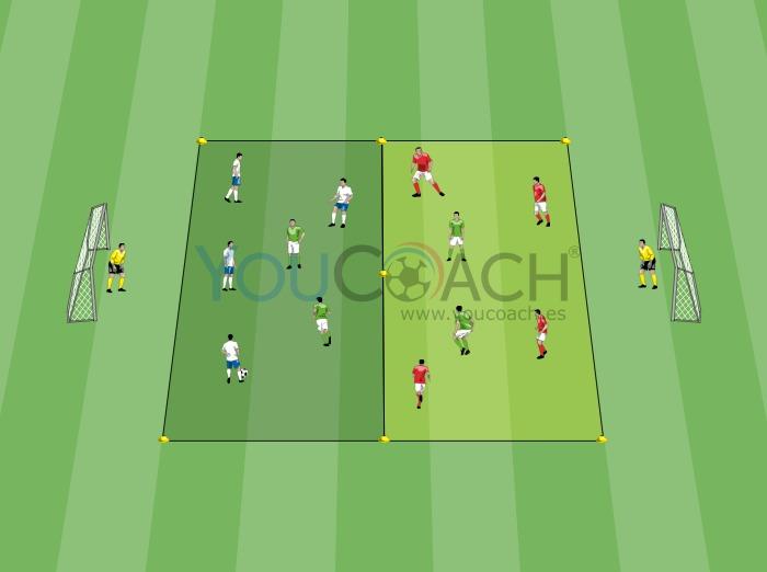 Posesión de balón 4 contra 2 con 3 equipos - FC Barcelona