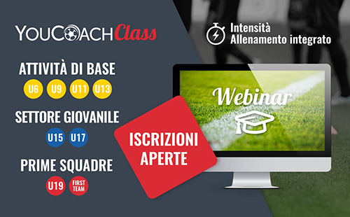 YouCoachClass calendario ottobre intensità allenamento integrato