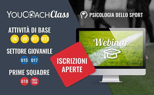 YouCoachClass iscrizioni webinar psicologia dello sport novembre
