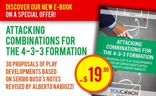 Attacking combinations for the 4-3-3 formation